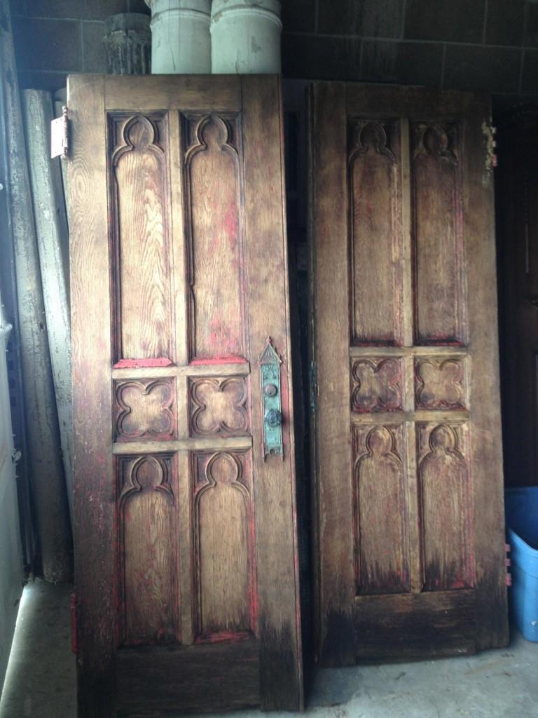 1844 Chestnut Gothic Doors