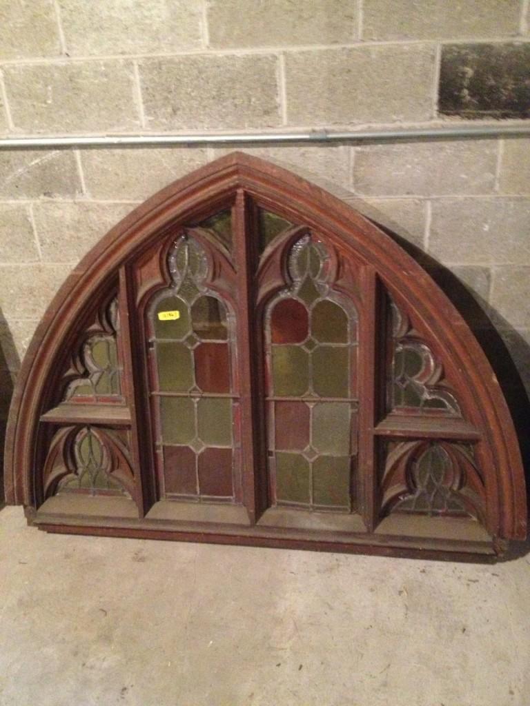 1844 Chestnut Gothic Transom