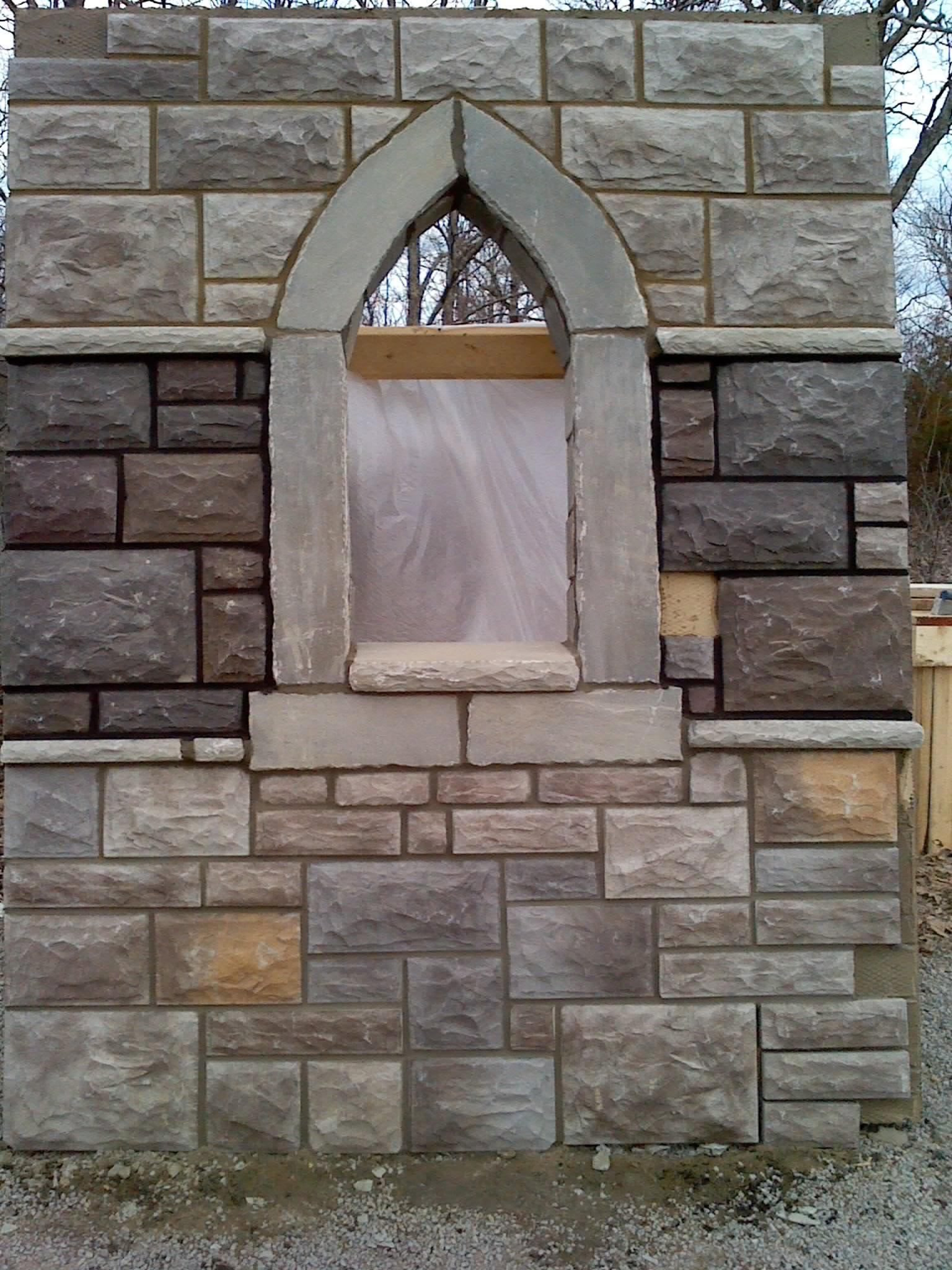 Exterior Wall Granite : Castle wall stone options