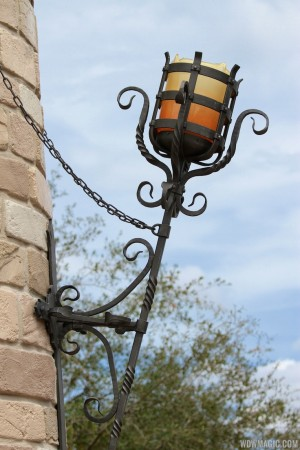 The inspiration for my sconce, see on Cinderalla's Castle at Disney World.