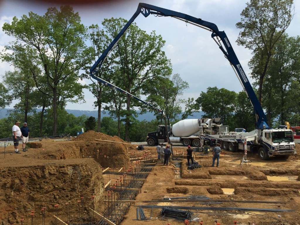 First Concrete Being Poured