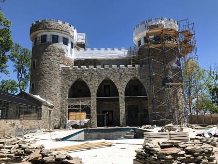 gothic stone beams building my castle a dream come true